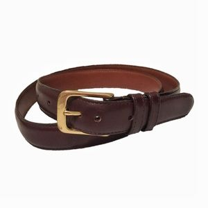Coach Burgundy Genuine Leather Belt
